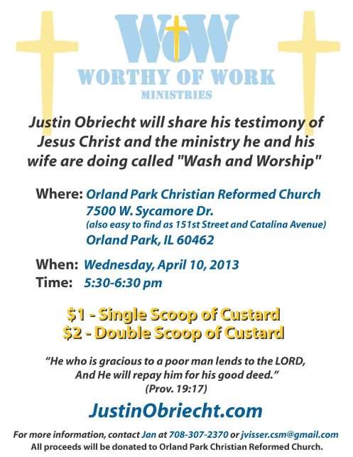 Orland Park Church Flyer 2